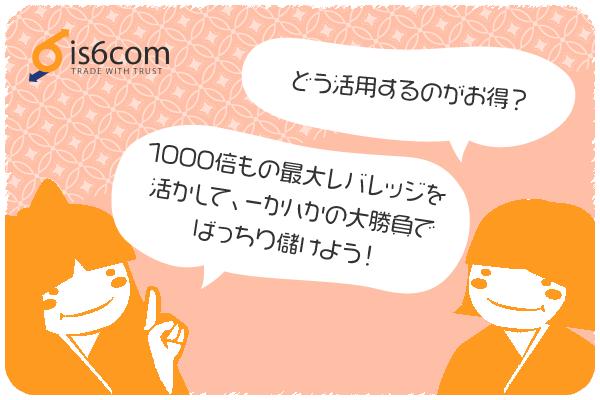 is6comのボーナス活用方法のアイキャッチ画像