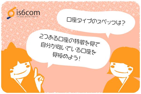 is6comの口座タイプのスペックのアイキャッチ画像
